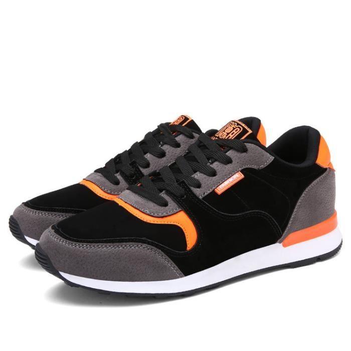 Sneaker Homme Noir Chaussures de Course Confortable