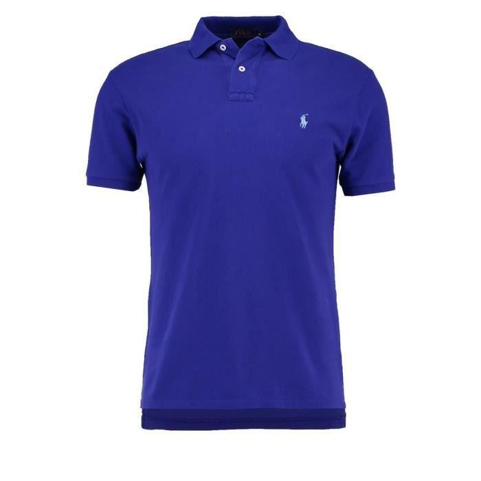RALPH LAUREN polo bleu foncé logo ciel Bleu Bleu - Achat   Vente ... eb39ac7f3590