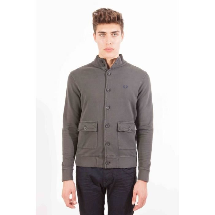0243 Homme gris XL PERRY FRED Cardigan wqf4YPn1x6