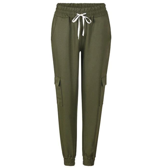 ... Legging Casual Classique Crayon Trousers Femmes Mince Élastique Pantalon.  PANTALON Minetom Femme Été Pantalon Chic Taille Haute Slim b39a73aac0b