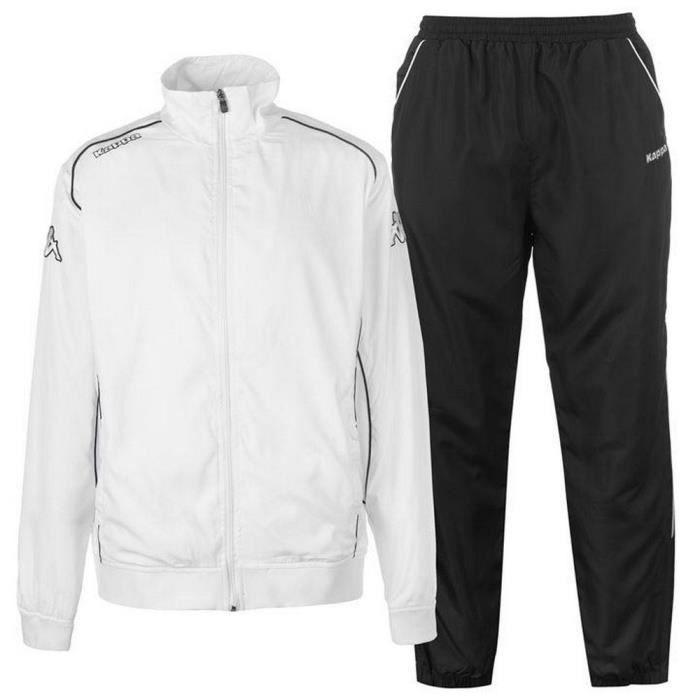 Jogging Homme Kappa Blanc et Noir