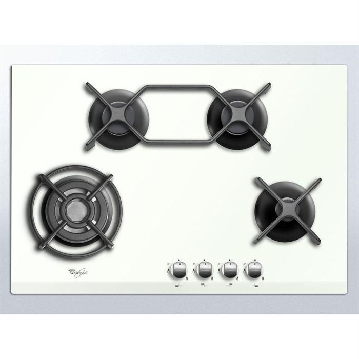 whirlpool akt 476 wh plaque gaz dessus verre achat. Black Bedroom Furniture Sets. Home Design Ideas