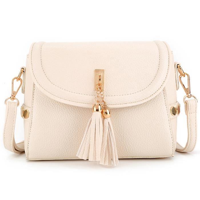 sac à mainFemmes Sac de dames en cuir Tassel femmes épaule célèbre marque de mode Designer-1300