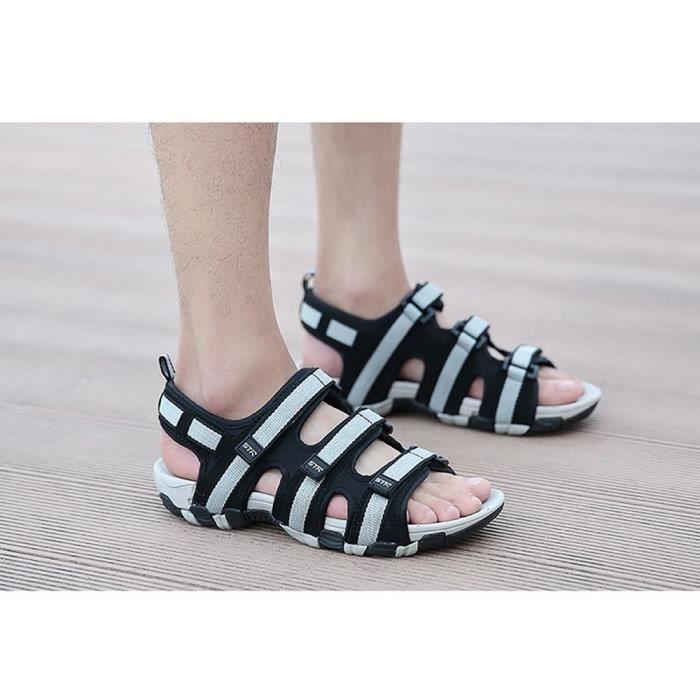 Biencome® Hommes Sandales en PU Respirant Confortable pour Sport Plage - Gris miVIs