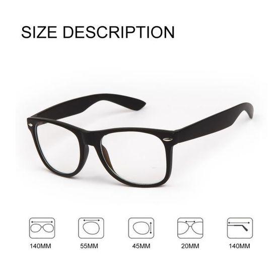 2ec1cb3aaaba9b Lunettes gaming et travail, protection anti lumiere bleue combat la  fatigue, le stress visuel et favorise l endormissement - Achat   Vente  lunettes de ...