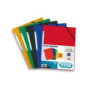 CHEMISE - SOUS-CHEMISE ELBA Lot de 5 chemises lustrées - A4 - Coloris ass