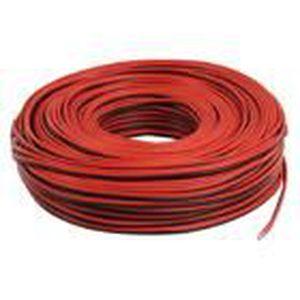 VALUELINE LSP-020R Câble haut-parleur en bobine - 2x 1.00 mm? - 100 m - Noir / Rouge