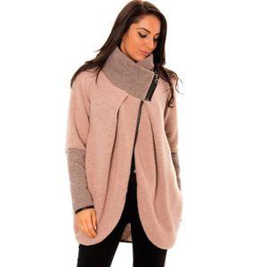 Veste ROSE cocooning très chaude rose et très tendance avec