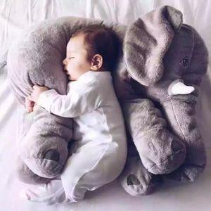 PELUCHE Gris 60cm Fashion éléphanteau animaux Style poupée