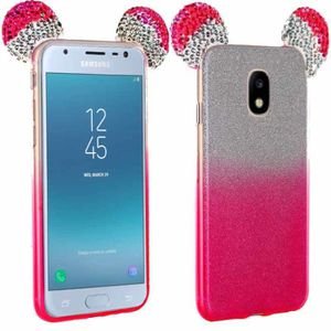 coque strass paillettes oreilles mickey rose pour samsung galaxy j3 2017 achat pi ce