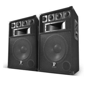 ENCEINTE ET RETOUR Paire d'enceinte Sono BOOMTONE DJ BM12 - 3 Voies -