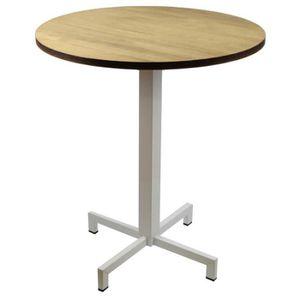 TABLE DE CUISINE  Table iCub Pied Central Blanc avec Plateau rond 20