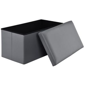 TABOURET [en.casa] Tabouret pliable casier de rangement - P