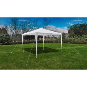 TONNELLE - BARNUM Tonnelle Pavillon de jardin blanc 3x3m Chapiteau d