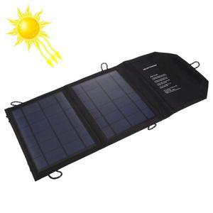 CHARGEUR - ADAPTATEUR  Chargeur solaire 5V 10W 2A Portable Sun Power batt