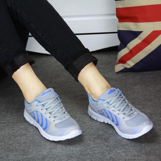 Mode Femmes Chaussures De Sport Sneakers  / Gris Bleu - Achat /  Vente basket ab4689
