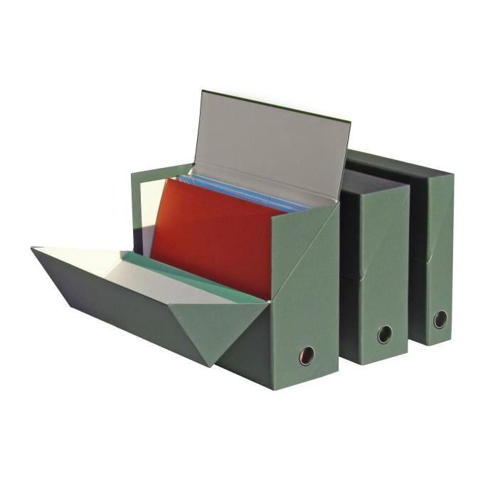 FAST Boite de transfert - Dos 12cm - 34x25,5 cm - Décor nature - Vert foncé