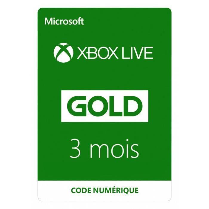 Abonnement Xbox Live 3 mois à télécharger