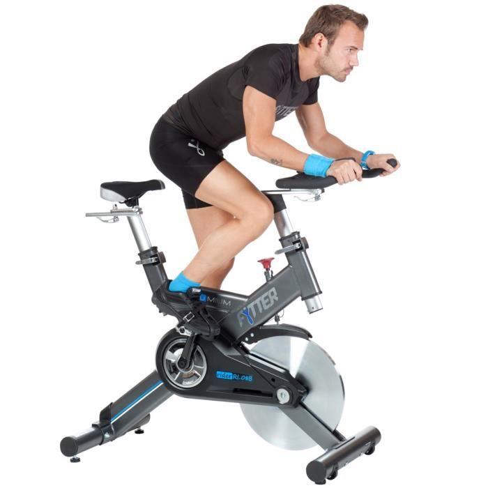 FYTTER Vélo biking RI-08B semi-profesionnel avec 22 kg d'inertie. Écran inclus. Finition haut de gamme. Spin bike spinning.