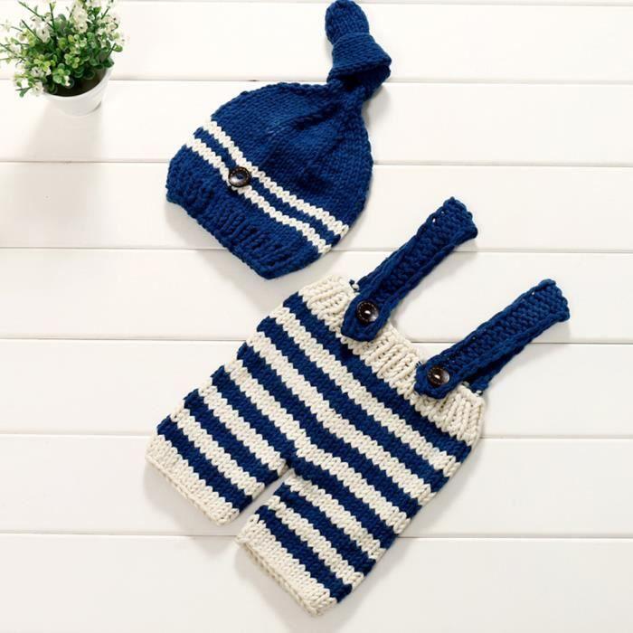 Nouveau-né Bébé Filles Garçons Crochet Tricot Costume Photographie Prop  Costumes be114 c90a51808af