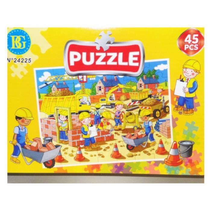 Pour 45 Enfant Pieces Chantier Puzzle Jouet MVUzpS