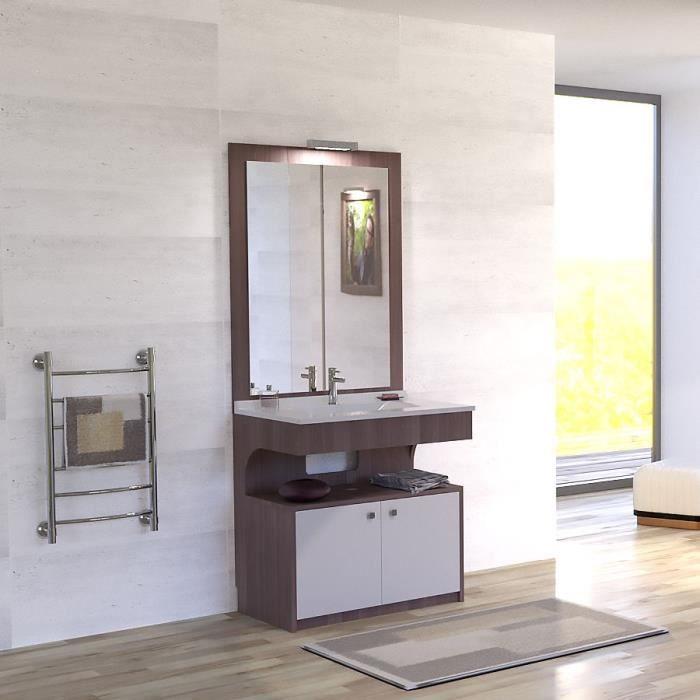 Meuble simple vasque pmr palerma 3 largeurs achat vente meuble vasque plan meuble - Meuble vasque 70 cm de large ...