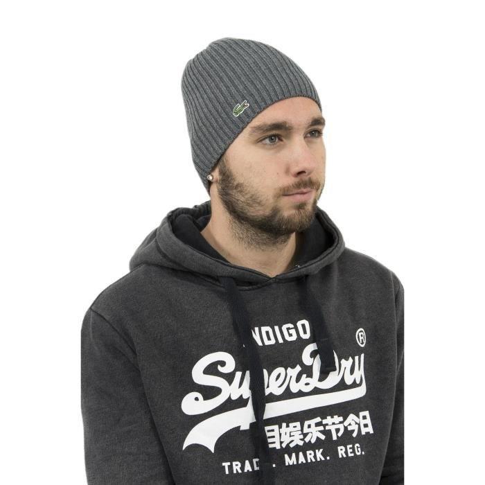 Bonnets lacoste rb3504 gris Gris - Achat   Vente bonnet - cagoule ... ed67e6fecf9