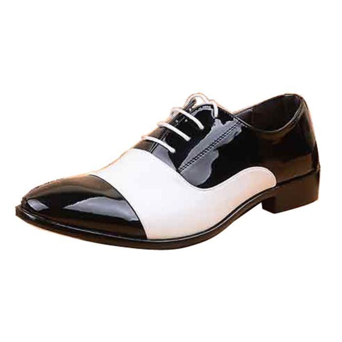 Richelieu Homme Lacet Chaussure Cuir Jointif PU Bout Pointu Oxford Mode HEE GRAND 0JqCiU9