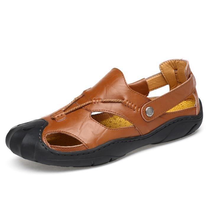 Sandales Mode Homme De En Sabots Cuir Randonnée K1JlTFc3