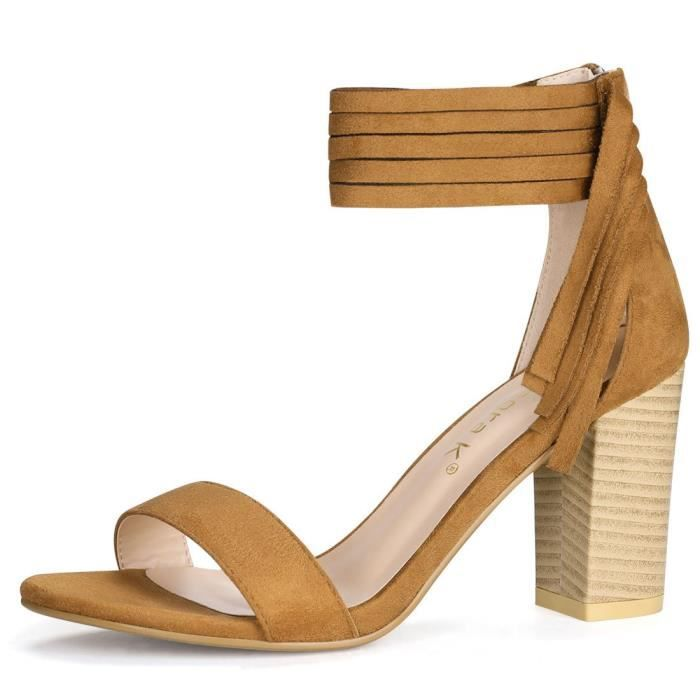 Glands Chunky Heeled Sandales WXSF7 Taille-40 1-2