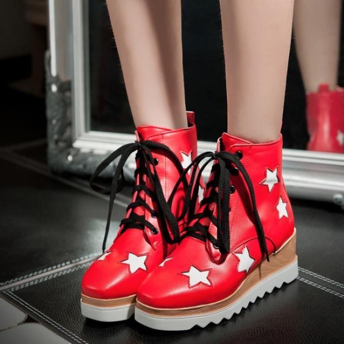 Femme Chaussures Loisirs Bottes courtes Chaussures de fond épaisses 0X4PgGX0eu