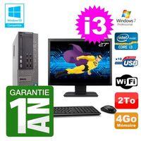 UNITÉ CENTRALE + ÉCRAN PC Dell 790 SFF Intel I3-2120 RAM 4Go Disque 2To D