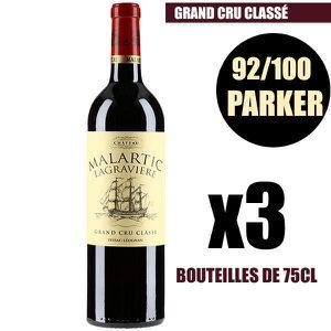 VIN ROUGE X3 Château Malartic-Lagravière 2014 75 cl AOC Pess