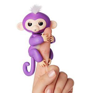 DOUDOU Interactif Bébé Fingerlings Singe Électronique Peu
