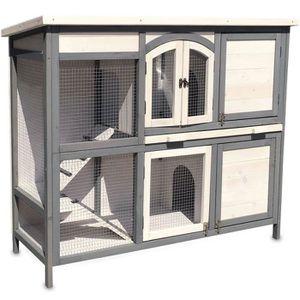 CAGE Cage Clapier lapin Extérieur en bois de pin haute