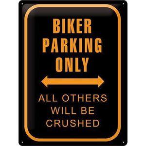 CATEYE Plaque de Décoration en Métal - na-20381 - Bikers Parking Only DrXeMsV9X7