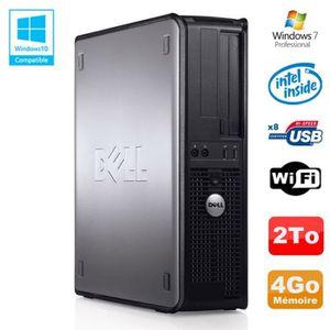 UNITÉ CENTRALE  PC DELL Optiplex 780 DT Intel E8400 3Ghz 4Go Disqu