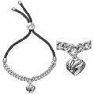 Bracelet guess coeur cordon noir