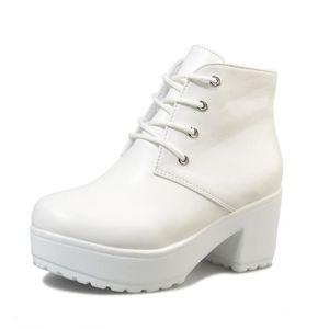 Bottes De Neige Classique Hiver Garde Au Chaud Coton Chaussure Plus De Cachemire Couleur Bottine Haut qualité Simple Beau 35-41 3jHH5Ue5I