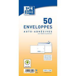 ENVELOPPE OXFORD 50 enveloppes auto-adhésives pre-casées - 2