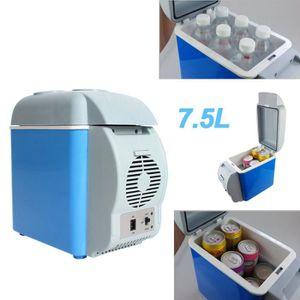7 5 l mini glaci re lectrique en voiture glaci re portable pour la voiture voyage bleu. Black Bedroom Furniture Sets. Home Design Ideas