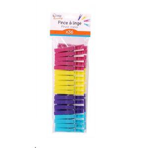 PINCE À LINGE 36 Pinces à linge - Plastique - Multicolore