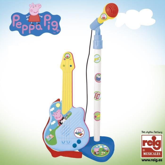 PEPPA PIG Micro et Guitare - Fille - A partir de 3 ans - Livré à l'unitéIMITATION INSTRUMENT MUSIQUE