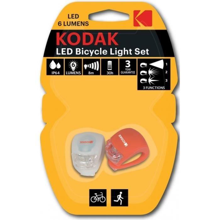KODAK Lampe LED Kit Vélo Light Set - 6 lumens
