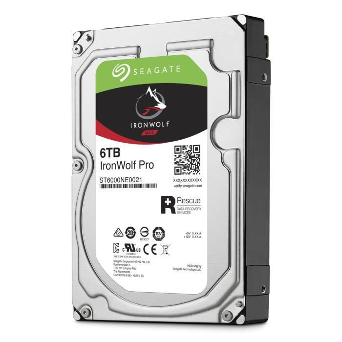 SEAGATE NAS HDD Iron Wolf Pro Enterprise 6To - ST6000NE0021