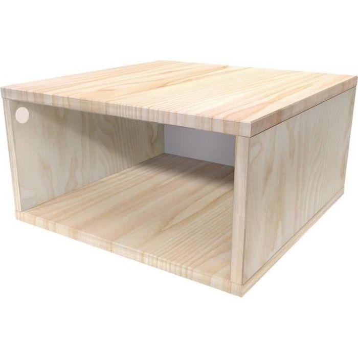 Cube En Bois Rangement Pas Cher