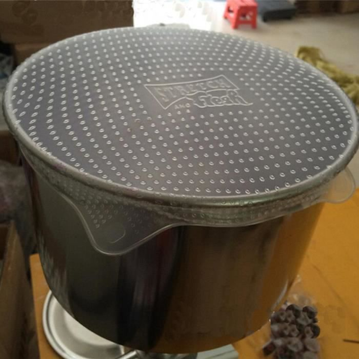 ANTI-PROJECTION  4x réutilisable silicone alimentaire Fresh Keeping