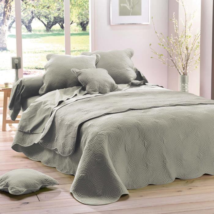 jeté de lit couvre lit Boutis jete lit couvre lit 220 x 240 cm uni lin…   Achat / Vente  jeté de lit couvre lit