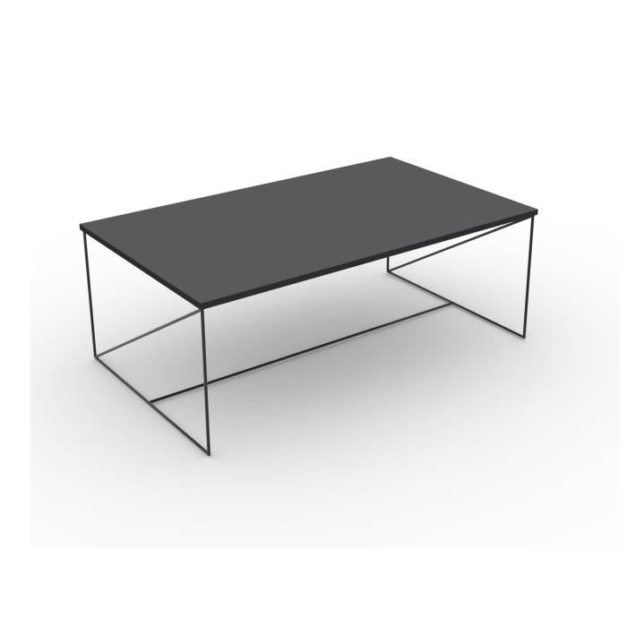 7fbae03ac6cf3a WALTER Table basse 100x60 cm - Gris - Achat   Vente table basse ...