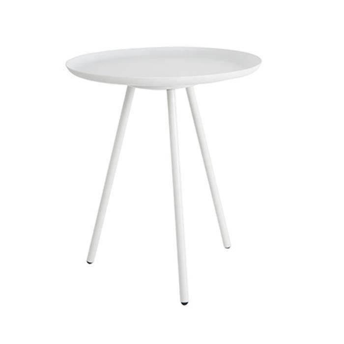 Table Basse Métal Laqué Frost Couleur Blanc Achat Vente Table